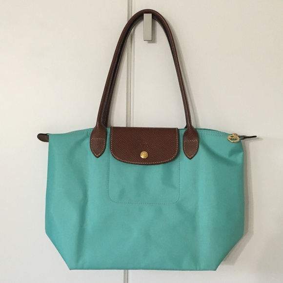67db7ce8be Longchamp Handbags - Longchamp Le Pliage Tote - Lagoon (Mint Green)